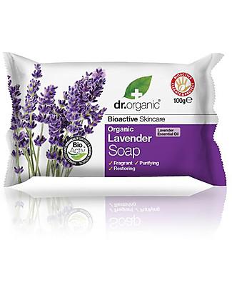 Dr.Organic Sapone alla Lavanda, 100 gr - Fresh and Healthy skin Detergenza