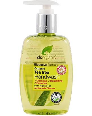 Dr.Organic Sapone Antibatterico Liquido per Mani, 200 ml - Tea Tree Detergenza