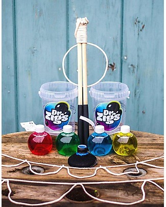 Dr Zigs Sensory Kit, 3 Mixes and Interchangeable Ropes with Wands - Multi-Sensory Experience! Outdoor Games & Toys