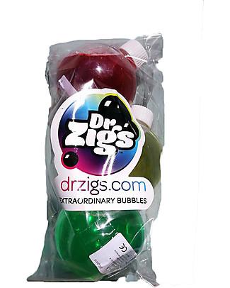 Dr Zigs Set da 3 Mix Concentrati, per Bolle di Sapone Colorate e Profumate! - 3 x 100 ml Giochi all'Aperto