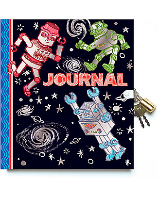 eeBoo Lock Diary, Robot - 200 pages! Great gift idea! Paper & Cardboard