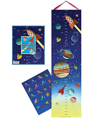 eeBoo Misuratore d'Altezza per Bambini, Lo Spazio – Con 22 adesivi! Scienza e Natura
