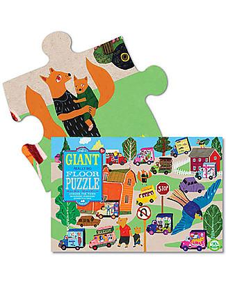 eeBoo Puzzle Gigante, Passeggiata in Città - 61 x 91,5 cm - 48 grandi pezzi Puzzle