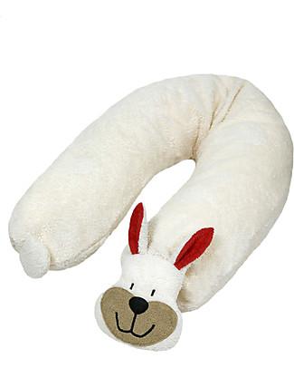 Efie Cuscino da Allattamento con Pula di Farro, Coniglietto – Cotone Bio, 185 cm Pula Di Farro