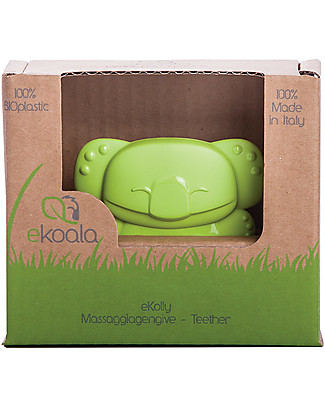 eKoala eKolly - Massaggiagengive Verde - Bioplastica Naturale, 100% Biodegradabile, Made in Italy Ciucci