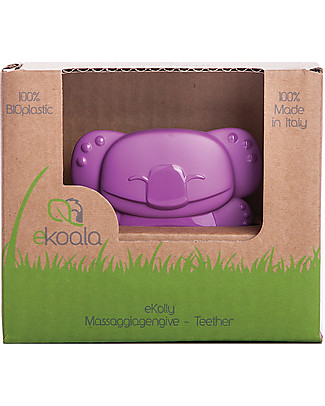 eKoala eKolly - Massaggiagengive Viola - Bioplastica Naturale, 100% Biodegradabile, Made in Italy Ciucci