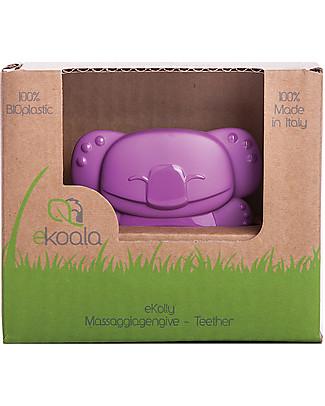 eKoala eKolly - Massaggiagengive Viola - Bioplastica Naturale, 100% Biodegradabile, Made in Italy Ciucci