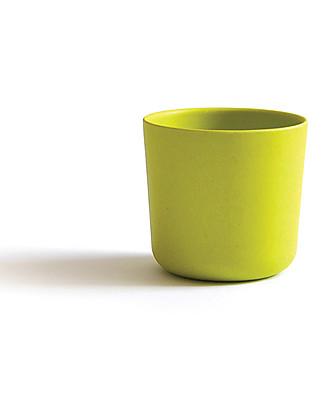 Ekobo Bicchiere Bambino in Fibra di Bambù, Lime - Adatto a Mani piccole Tazze e Bicchieri