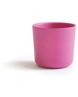 Ekobo Bicchiere Bambino in Fibra di Bambù, Rose - Adatto a Mani piccole Tazze e Bicchieri