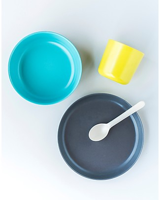 Ekobo Kid Set Bambino: Tazza, Piatto, Ciotola e Cucchiaio - Completo ed Eco-Friendly Set Pappa