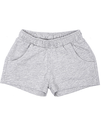 Emile et Ida Baby Shorts Sportivi, Grigio Melange – 100% cotone Pantaloni Corti