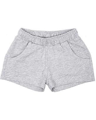 Emile et Ida Baby Shorts Sportivi, Grigio Melange - 100% cotone null