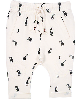 Emile et Ida Pantalone Baby Ghiande, Ecrù - 100% jersey di cotone Pantaloni Lunghi