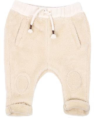Emile et Ida Pantalone Baby Soffice Pelo, Ecrù - Morbidissimo! Pantaloni Lunghi