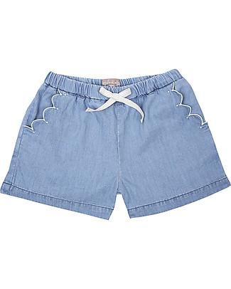 Emile et Ida Shorts Bimba, Chambray - 100% cotone Pantaloni Corti