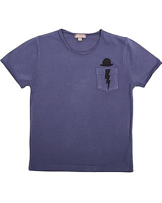 Emile et Ida T-Shirt Bimbo, Blu Mirtillo – 100% cotone T-Shirt e Canotte