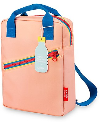 Engel Zainetto Small in Stile Retrò Zipper, Rosa 22 x 28 x 7 cm - Eco-Friendly! Zainetti