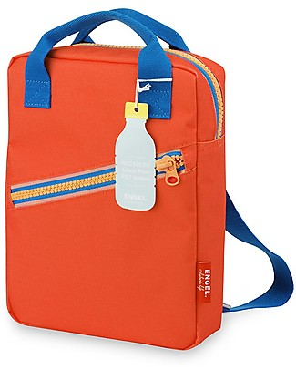 Engel Zainetto Small in Stile Retrò Zipper, Rosso 22 x 28 x 7 cm - Eco-Friendly! Zainetti