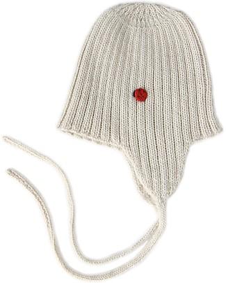 Esencia Cappellino con Paraorecchi e Coccinella, Avorio (5-6 anni) – 100% Lana di alpaca Cappelli