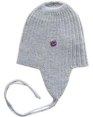 Esencia Cappellino con Paraorecchi e Coccinella, Celeste (6 mesi, 1-2 e 3-4 anni) – 100% Lana di alpaca Cappelli