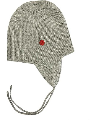 Esencia Cappellino con Paraorecchi e Coccinella, Grigio – 100% lana di alpaca Cappelli