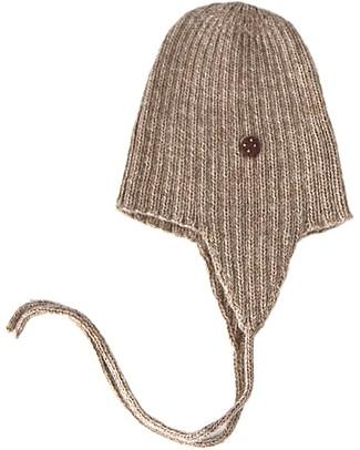Esencia Cappellino con Paraorecchi e Coccinella, Tortora (1-2 e 3-4 anni) – 100% Lana di alpaca Cappelli