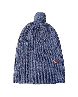 Esencia Cappellino PonPon con Coccinella, Blu (1-2 e 3-4 anni) - 100% Lana di alpaca Cappelli