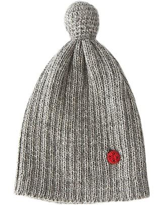Esencia Cappellino PonPon con Coccinella, Grigio (6 mesi, 1-2 e 3-4 anni) - 100% Lana di alpaca Cappelli