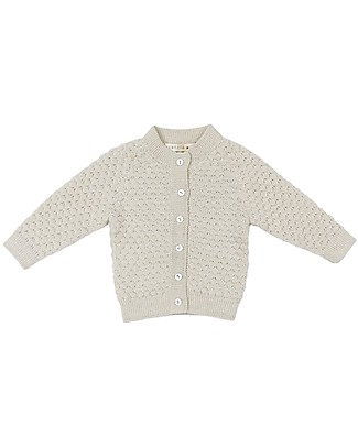 Esencia Cardigan Hanna (1-2 anni), Avorio - 100% Lana di Alpaca Cardigan