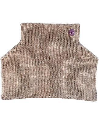 Esencia Condo, Scaldacollo con Coccinella, Tortora – 100% lana di alpaca Sciarpe e Mantelle