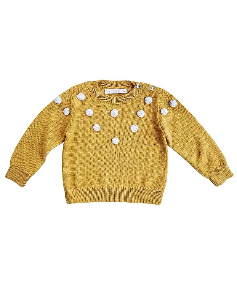 check-out metà prezzo come acquistare Esencia Maglione Fiocchi di Neve, Ambra - 100% lana di ...