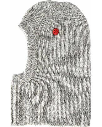 Esencia Passamontagna Zoey con Coccinella Mondo, Grigio (1-2 e 3-4 anni) - 100% lana di alpaca Cappelli Invernali