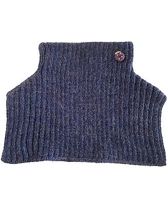 Esencia Scaldacollo con Coccinella Mondo, Blu (1-2 e 3-4 anni) – 100% Lana di alpaca Sciarpe e Mantelle