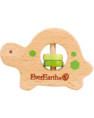 EverEarth Anello/Massaggiagengive Tartaruga 2 in 1 - Abilità Motorie & Coordinazione Occhio-Mano!  Giochi Per Neonati
