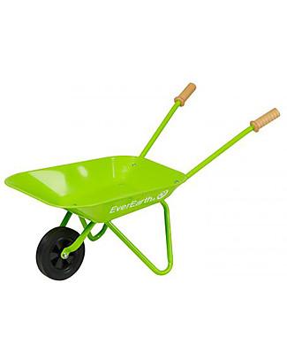 EverEarth Carriola da Giardino - Verde - Legno Certificato Giochi da Giardinaggio
