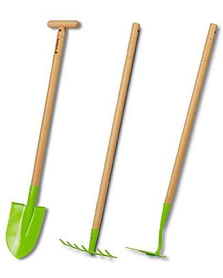 EverEarth Pala da Giardinaggio - Verde - Legno Certificato Giochi da Giardinaggio