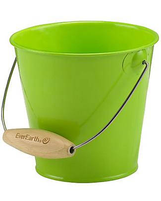 EverEarth Secchio da Giardinaggio - Verde - Legno certificato Giochi da Giardinaggio