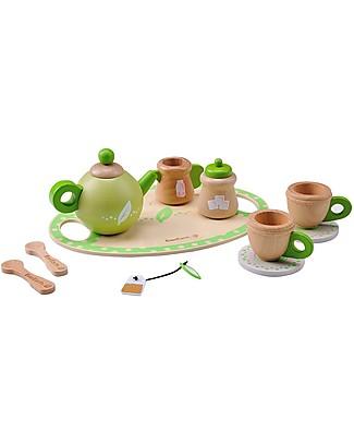 EverEarth Servizio da Tè - Favorisce l'Interazione con gli Altri - Legno Ecologico Giochi Per Inventare Storie