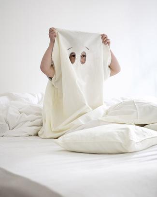 Fabelab Dream-In-Ghost Fantasma Set Copripiumino per Culla (70x100) + Federa + Borsa - 100% Cotone Bio Copripiumino e Federe