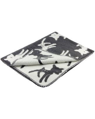 Fabulous Goose Baby Copertina Bambi - Grigio Scuro - Doubleface - 100% Cotone Spazzolato (Effetto Felpa: Morbido e caldo) 75 x 100 cm Coperte