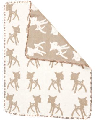 Fabulous Goose Baby Copertina Softy Bambi - Beige Doubleface - 100% Cotone Bio Spazzolato Effetto Pile - 75x100 cm Coperte
