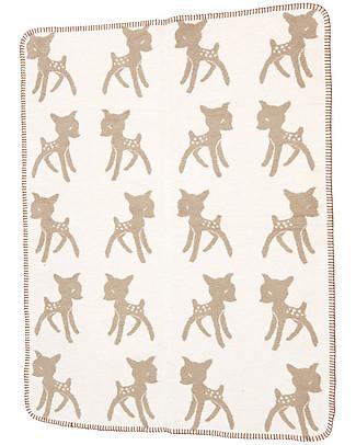 Fabulous Goose Copertina Softy Bambi - Beige Doubleface - 100% Cotone Bio Spazzolato Effetto Pile - 120x150 cm Coperte