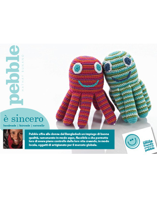 Family Nation Pacco da 25 Cartoline Pebble Peluche