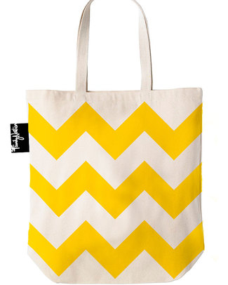 Family Nation Shopper Etico Zig Zag - 100% Cotone Borse Shopper