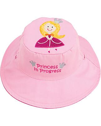 FlapJackKids Cappello Estivo Reversibile Anti-UV SPF 50+, Principessa+Pisellini - 100% cotone Cappelli Estivi