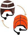 FlapJackKids Cappello Invernale Reversibile in Pile - Calcio+Baseball - Anti-UV SPF 50+ Cappelli Invernali