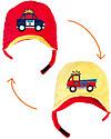FlapJackKids Cappello Invernale Reversibile in Pile - Pompieri+Polizia - Anti-UV SPF 50+ Cappelli Invernali