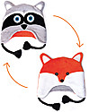 FlapJackKids Cappello Invernale Reversibile Pile SPF 50 - Orsetto Lavatore/Volpe Cappelli Invernali