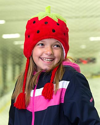FlapJackKids Cappello Reversibile in Pile - Fragola+Cupcake - Anti-UV SPF 50+ Cappelli Invernali