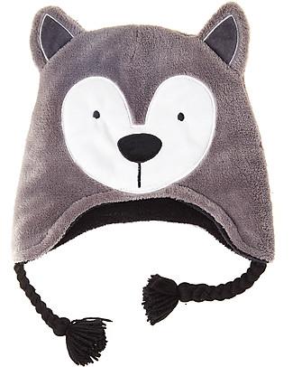 FlapJackKids Cappello Reversibile in Pile - Lupo+Orso - Anti-UV SPF 50+ Cappelli Invernali